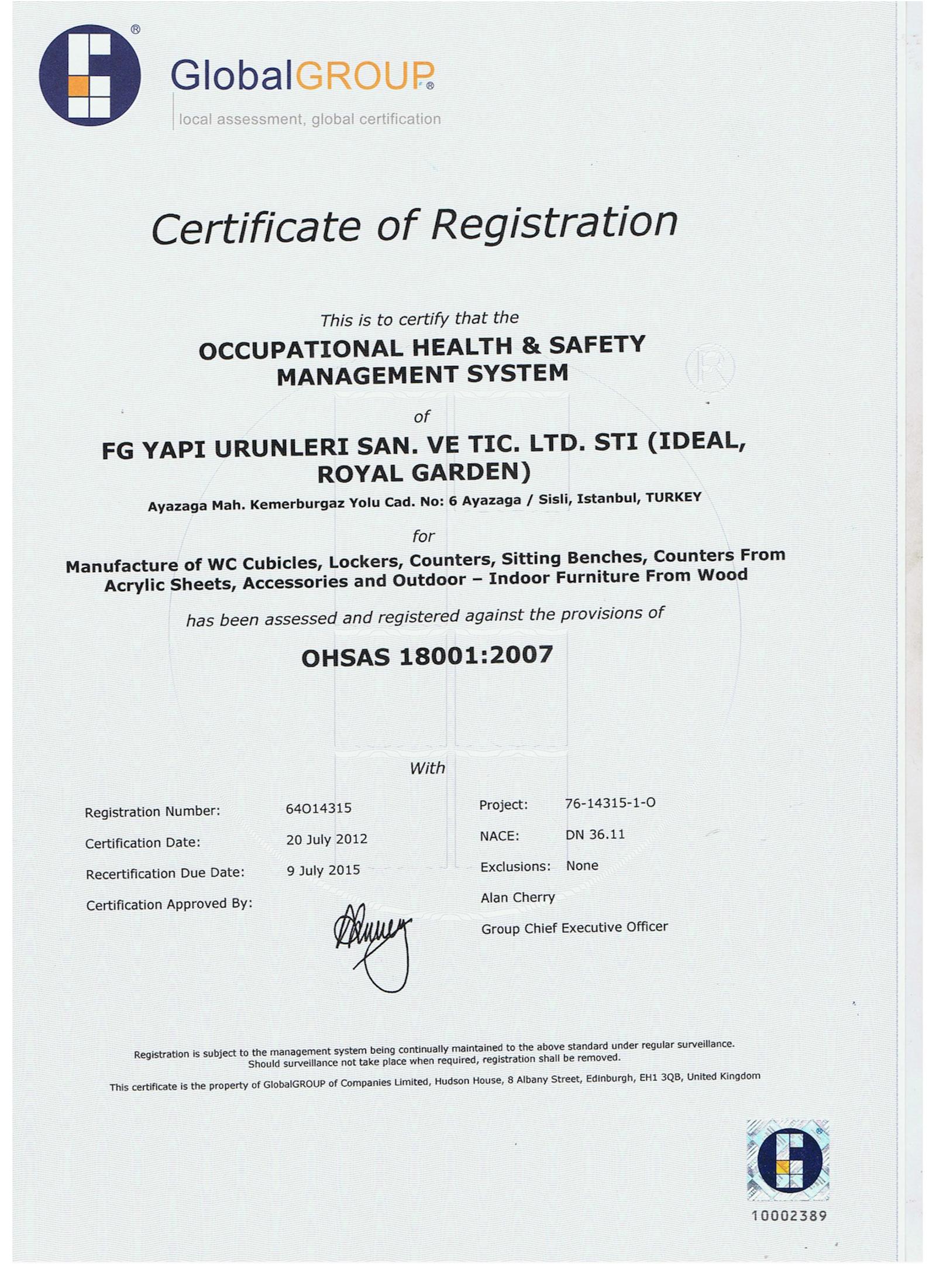 OHSAS - 18001